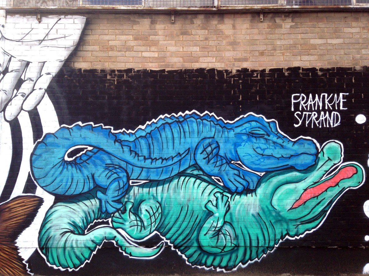 Fresh Graffiti Spray Paint Art on Fountayne Road (UPDATED!!)